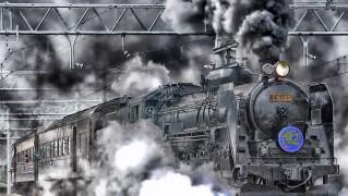 日本 鉄道 機関車 Hdr 煙 空 雲 トラック 外 蒸気