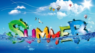 summer_3d_letters_floating_in_water-wide