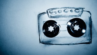 Drawing-Cassette-Tape-on-Paper