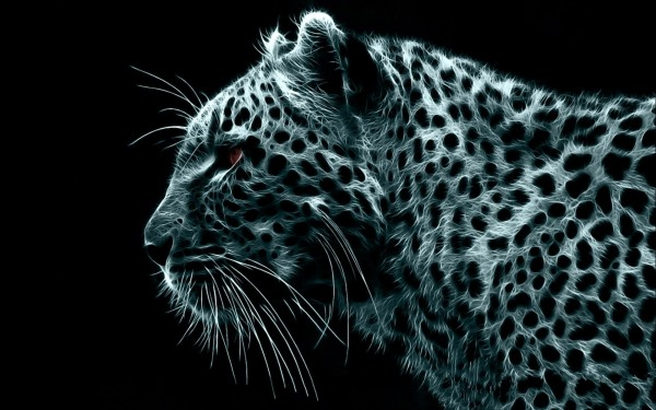 Abstract-Design-of-Leopard-Side-Portrait