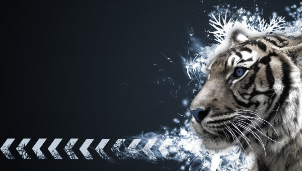 Abstract-Tiger-Portarit