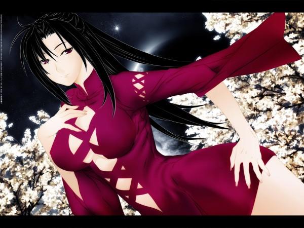 Anime-Girl-with-Purple-Dress