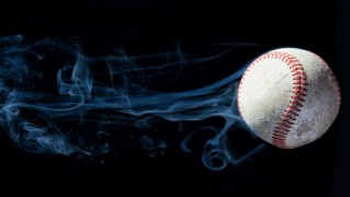 Baseball-with-Smoke