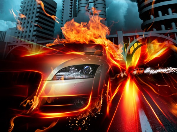 Car-Racing-with-Fire-Flames-in-the-City