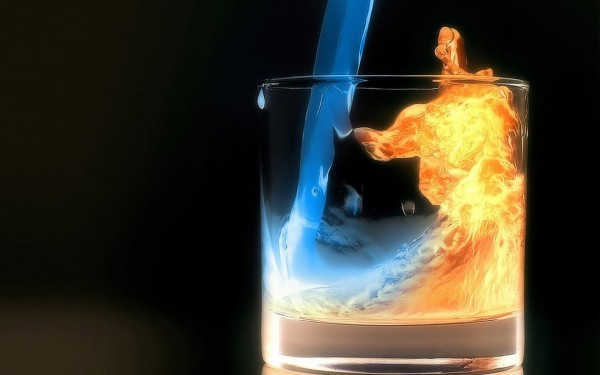 Cold-Water-and-Fire-in-Glass