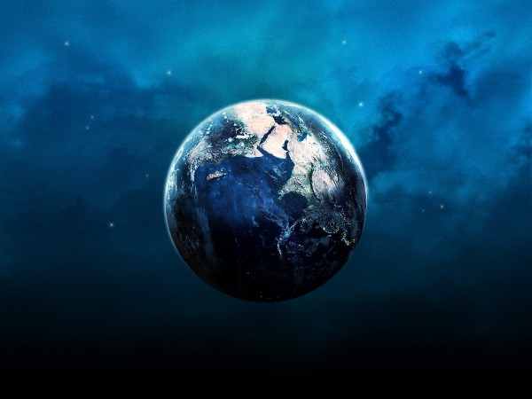 Earth-in-Blue-Cloudy-Space