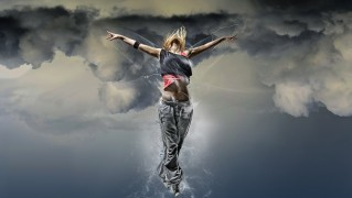 Flying-Dancer-Against-the-Clouds