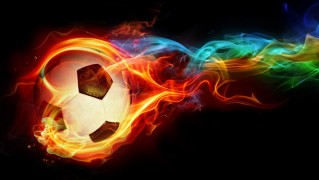 Football-with-Fire-Flames