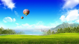 Grass-Land-Air-Ballons-Flying