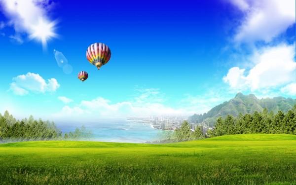 Grass-Land-Air-Ballons-Flying