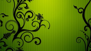 Green-Background-with-Floral-Ornamanets
