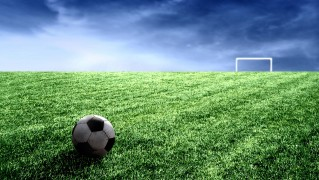 Green-Field-with-Soccer-Ball