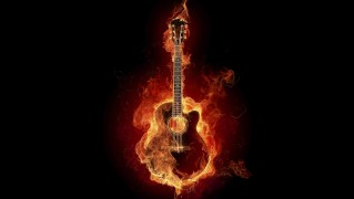 Guitar-with-Fire-Flames