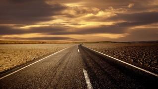Highway-Through-Dry-Mud-Land