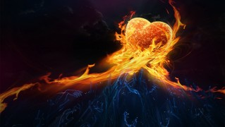 Love-Heart-Made-of-Fire-Flames