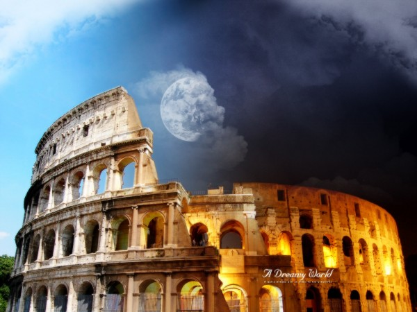 Moon-Over-the-Colosseum-in-Rome