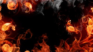 Ornamental-Fire-Border-Background