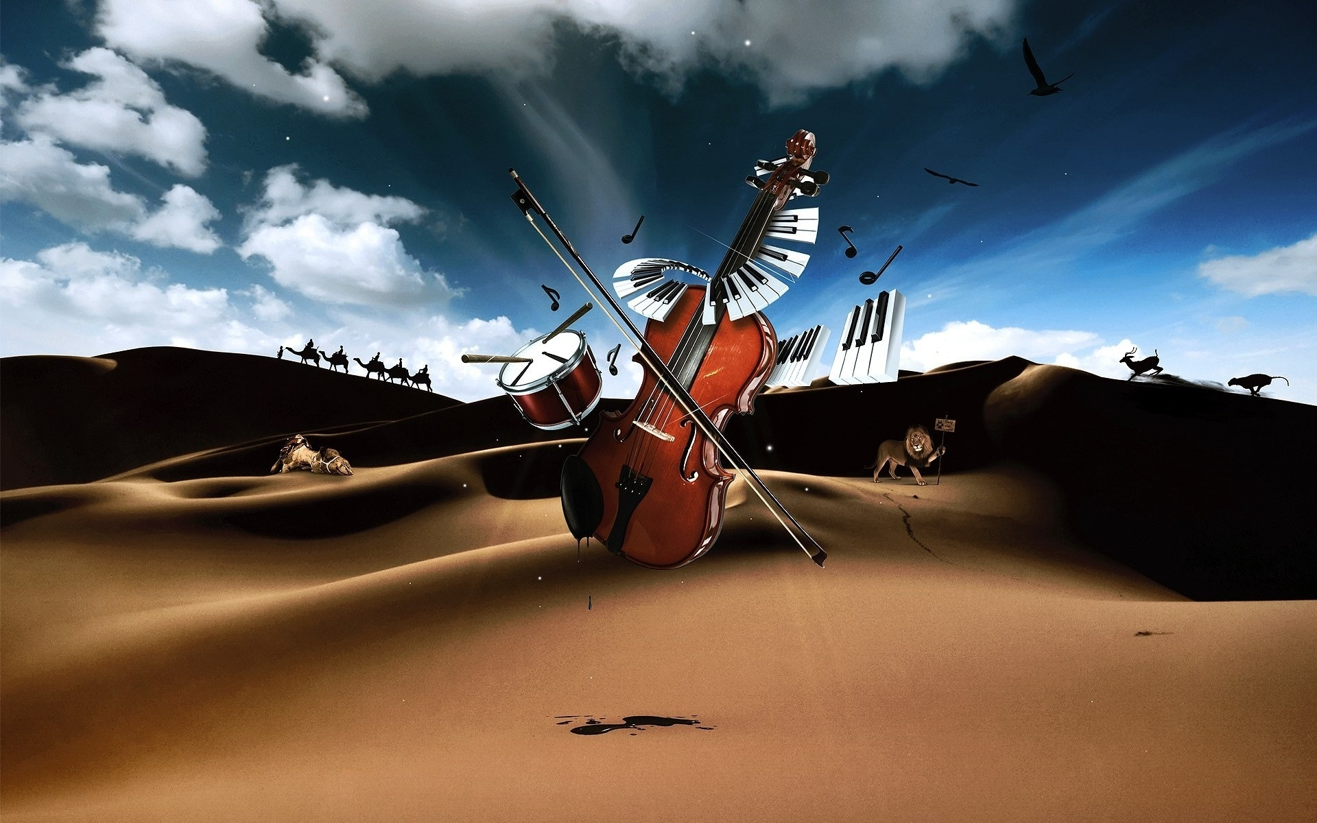 cool 3d wallpaper violin - photo #41