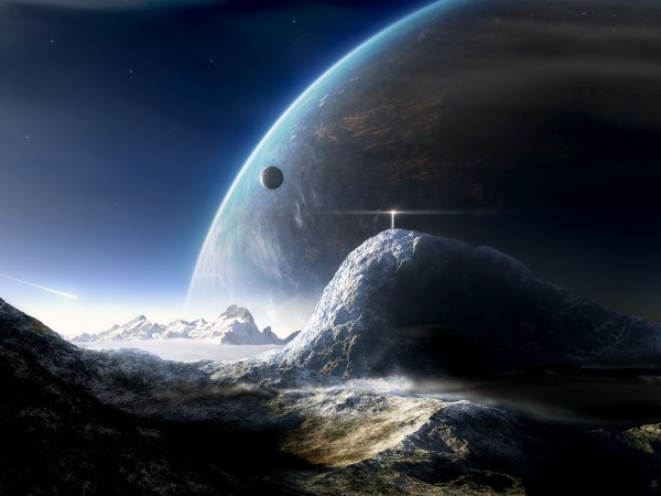 Planet-Mountains-in-Space