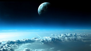 Planet-Over-Clouds-View