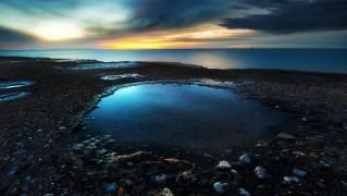 Pond-Under-Night-Sunset