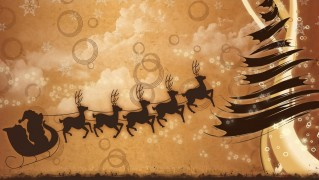 Santa-Riding-Sledge-Christmas-Card