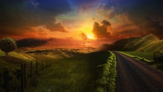 Side-Road-Toward-the-Thundering-Sunset