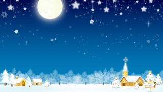 Small-Village-in-Christmas-Night