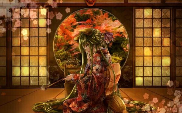Smoking-Geisha