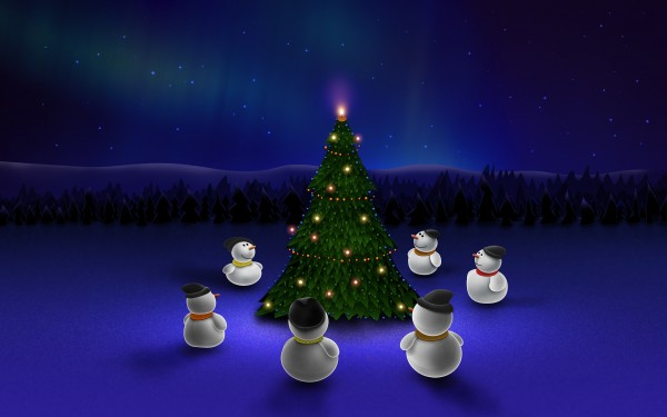 Snowmen-with-Christmas-Tree