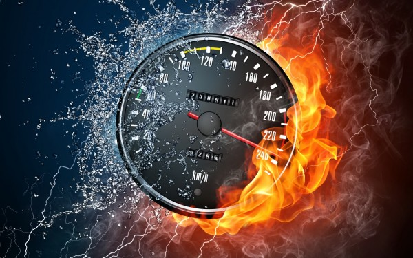 Speedometer-on-Fire