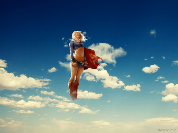 Supergirl-Flying-in-the-Sky