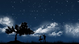 Tree-and-Couple-Silhouette-Dancing-at-Night
