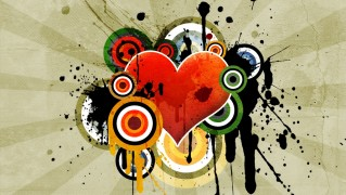 Vector-Desing-of-Love-Hearts-in-Splatter-Style