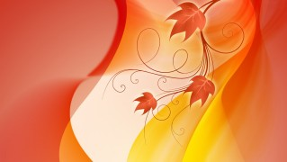 Vector-Red-Abstract-Leaves