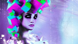Woman-with-Neon-Abstract-Hair